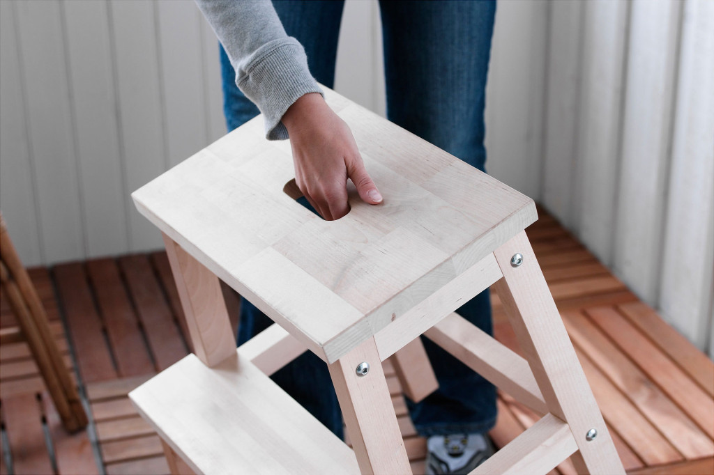 The cheap and sturdy $15 Bekvam stool from Ikea is a great base for a learning tower.